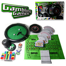 4 IN 1 PROFESSIONAL POKER CHIP CARD GAMES ROULETTE BLACK JACK CASINO SET TOY