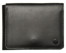 "BRAND NEW IN GIFT BOX BILLABONG ""BARLOW"" MENS BLACK LEATHER TRI-FOLD WALLET"