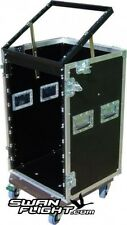 "16U 19"" Rack Swan Flight Case with 10U Lift Up Top (Hex)"