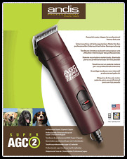 Andis AGC SUPER 2 Speed  Dog Pet Maroon Clipper WITH #10 BLADE INC VAT & UK CARR