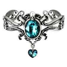 Official Alchemy Gothic Dogaressa's Last Love Pewter Bangle - Bracelet Swarovski