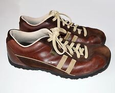 Skechers Brown Leather Trainers Shoes Size UK 5 EU 38