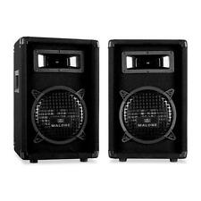 "DISCO SPEAKERS PA PAIR 8"" INCH 600W HOME DJ HI-FI KARAOKE STUDIO PARTY NEW SOUND"