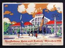 101622 AK München 1928 Ausstellung Heim und Technik SST Vignette Künstlerkarte