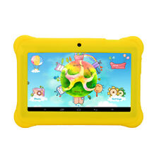 "iRULU 7"" BabyPad Dual Camera Android 4.4 Quad Core 8GB Tablet for Kids Yellow"