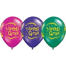 Party Decorations- Mardi Gras Trio Latex Balloons Pack of 10