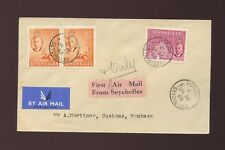 SEYCHELLES to KENYA 1953 FIRST AIRMAIL ETIQUETTE