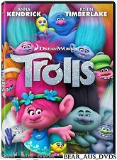 TROLLS (2016): R1 DVD - Animation, Adventure, Comedy, Musical, DreamWorks  - NEW