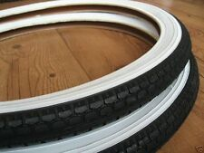 """Pair of  20"""" White Wall Tyres for Old Shopper Bike  20 x 1.75"""