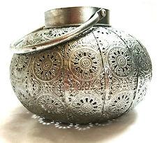 Windlicht Metall rund gross antik Laterne marokkanische Lampe Teelichthalter