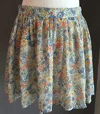 Pre-owned COTTON ON Floral Print Full Short Skirt Size M (12)
