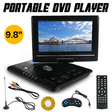 "Portable DVD Player 9.8"" Swivel Screen DivX EVD MP4 MP3 JPG USB SD 300 GAMES NEW"