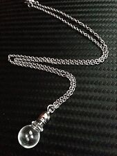 Fillable Mini Glass Bottle Potion Vial Pendant Necklace on Stainless Steel Chain