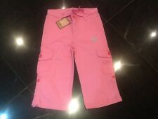 NWT Juicy Couture New Girls Age 10 Pink Cotton Cropped Trousers With Juicy Logo