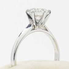 ladies huge diamond solitaire ring, 1.59ct in  platinum