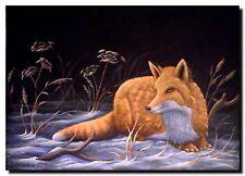 Acrylmalerei Christiane Schwarz; FUCHS IM SCHNEE ca. 70x50cm, Tier, Kunst, Bild