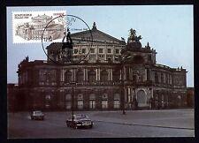DDR 2928 Maximumkarte Wiedereröffnung der Semperoper in Dresden