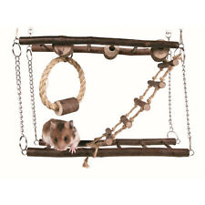 Hamster Gerbil Mouse Rat Pet Excerise Toy Home Habitat Hanging Bridge Playground