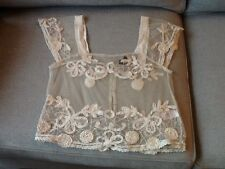 DELICATE LACE IVORY TOP BY TOP SHOP SIZE 8 USED CONDITION