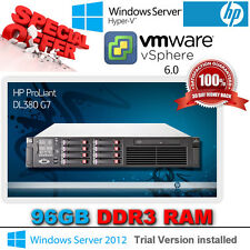 HP Proliant DL380 G7 2x 2.66Ghz Quad Core E5640 Xeon 96GB DDR3 RAM P410i/512MB