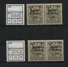SBZ Plattenfehler-Lot 206 III und V postfrisch (B04861)