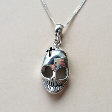 925 Sterling Silver Necklace with Skull Pendant gift halloween