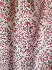"""Vintage ST.MICHAEL Pink Retro Floral Pair of Curtains Cotton  (L-53"""" x W-65"""")"""