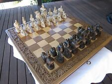 Maharajah Carved Wooden Chess Set