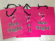 3 X HEN NIGHT PARTY GOODIE BAGS BAG LOOT BRIDE PARTY