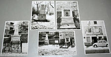 original Fotos 5x Schubert-Park Wien BEETHOVEN GRAB + GEDENKTAFEL 1960er 13x9cm