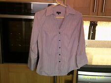 JAEGER SIZE 10 WOMENS STRIPED BLOUSE