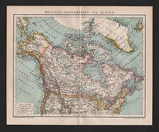Landkarte map 1893: BRITISCH-NORDAMERIKA UND ALASKA. Canada