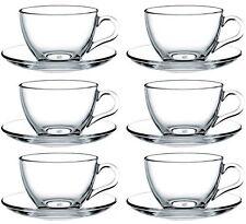 12tlg. Set Tassen mit Unterteller Basic Teetassen Kaffeetassen Cappucciontassen