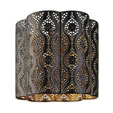 Chocolate Brown Gold Interior Moroccan Themed Metal Ceiling Light Shade Pendant