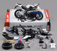 1:12 Motorcycle Assembly BMW S1000RR Model Kit Maisto Diecast Metal Autocycle