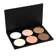 6 Shades Camouflage Face Eye Powder Foundation Concealer Contouring Palette