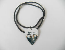 BASTILLE guitar pick plectrum braided twist LEATHER NECKLACE 20""
