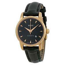 Mido Baroncelli Jubilee Automatic Grey Dial Black Leather Ladies Watch-AU