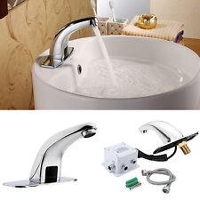 Sensor Armatur vollautomatisch Wasserhahn Chrom Mischbatterie Badarmatur Design