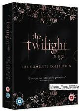 THE TWILIGHT SAGA (2008-2012)  5 DVD Set COMPLETE Movie Collection NEW UK not US
