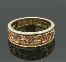 9Carat Yellow & Rose Gold Clogau 'Cariad' Graduated Band (Size S) (5-7mm Width).