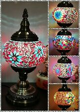 Turkish Lamp Glass Mosaic Swan Design Exotic Colourful Moroccan Style Hand Made