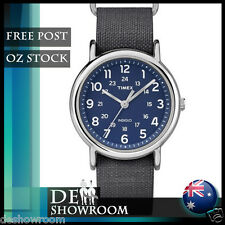 "Timex ""Weekender"" Gray Fabric Strap Watch, Indiglo, TW2P65700 - Free Post in AU"
