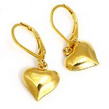 Neue TITAN Ohrhänger Creolen Ohrringe Brisurhänger ** Herz Herzen Gold vergoldet