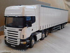SCANIA R620 PLAIN WHITE CURTAINSIDE TRUCK DIECAST MODEL LORRY 1:50 CARARAMA
