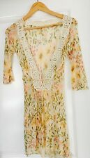 FREE PEOPLE DESIGNER FLORAL STUNNING TOP SZ S