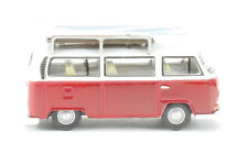 Oxford Diecast VW Bay Window Bus/Surfboards Montana Red/White - OO/1:76 Scale