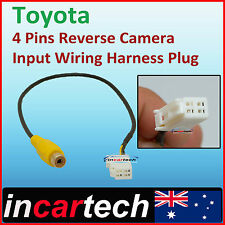 Toyota 4 Pins Male Connector Radio For Back Up Reverse Camera RCA Input Plug