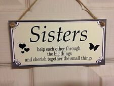 Friendship Sign Best Friend Gift Novelty Shabby Chic Plaque - Sisters Cherish