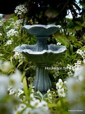 Miniature Fairy Garden Double Birdbath Fountain/ Faerie Gnome  Garden  16415